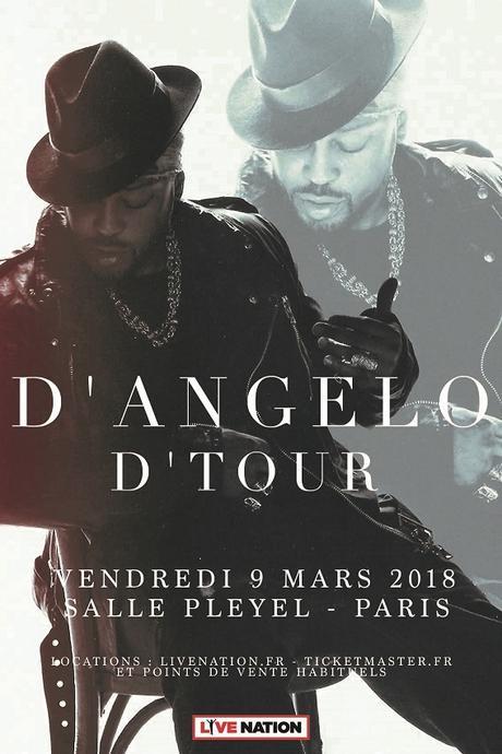 D'ANGELO en concert à Paris le 9 Mars 2018 à la salle Pleyel