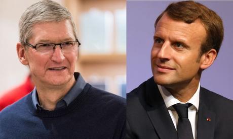 emmanuel macron tim cook apple - Apple : des détails sur la rencontre entre Tim Cook & Emmanuel Macron
