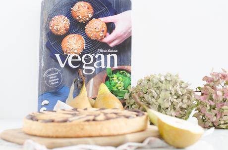 Tarte poire choco amande Vegan + Concours