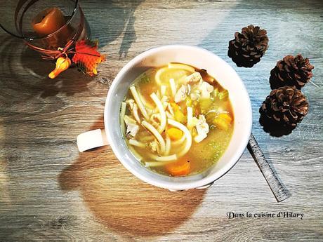 Chicken noodle soup - Dans la cuisine d'Hilary