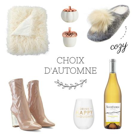 Mes choix shopping : automne 2017