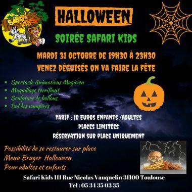 Grande Soirée Halloween Safari Kids