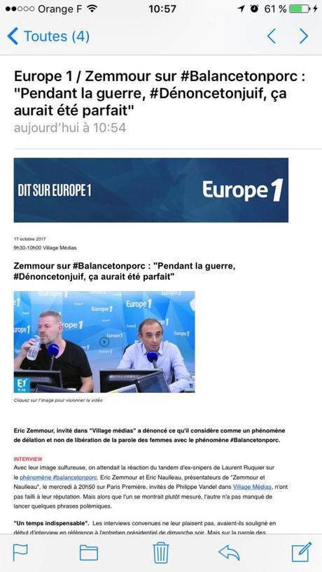 @Europe1, j'ai honte pour vous : #balancetonporc ? #zemmour ! #feminisme #antifa