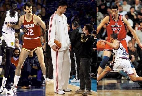 Focus sur les 5 plus grands joueurs en taille de l'histoire de la NBA