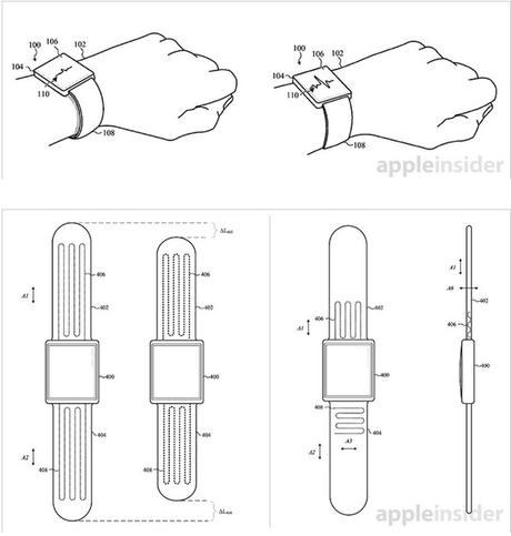 apple watch brevet bracelet auto ajustable - Apple Watch : un brevet pour un bracelet auto-ajustable