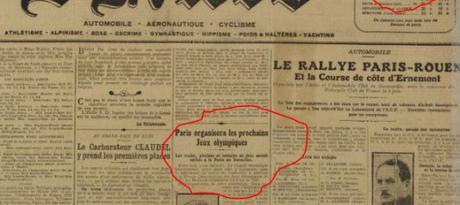 Ce 2 juin 1921 où Paris obtint « sobrement » les Jeux Olympiques de 1924