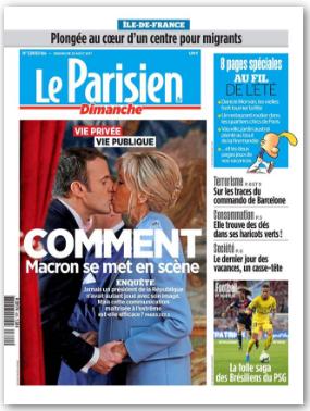 C'est Macron qui se met en scène | Le Parisien