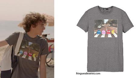 DEMAIN  NOUS APPARTIENT : Lucas et son t-shirt Pacman sur Abbey Road dans l'ép. 67