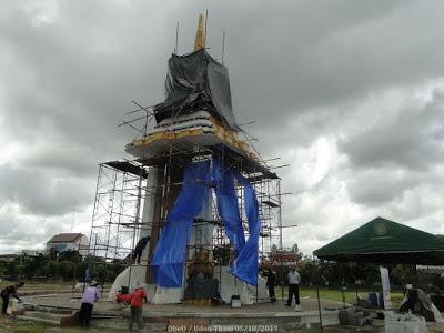 Udon-Thani, finalisation de la réplique du crématorium royal (photos)