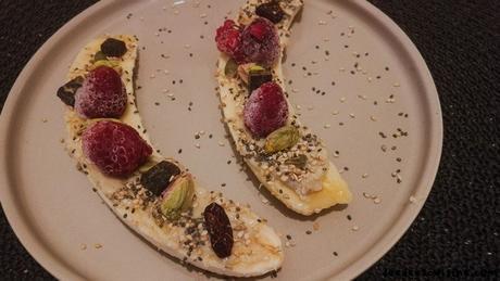 recette rapide facile banana boat healthy sain petit déjeuner