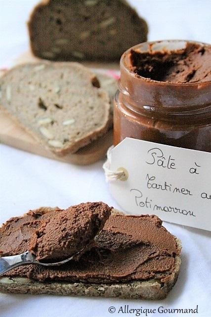 Pâte à tartiner au potimarron, bio {sans gluten / sans lait / sans oeufs}