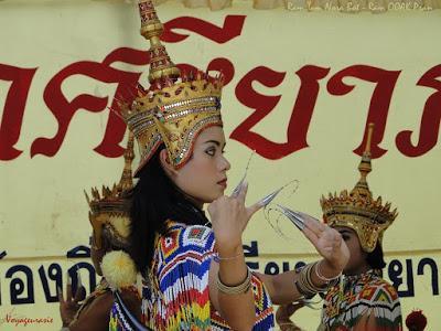 Divertissement funéraire en l'honneur du roi Bhumibol: le ballet Manohra (répétitions)