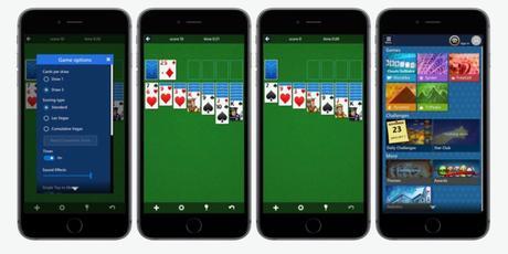 Microsoft Solitaire sur iPhone passe en version 1.7