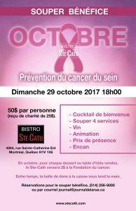 Souper bénéfice pour la prévention du cancer du sein