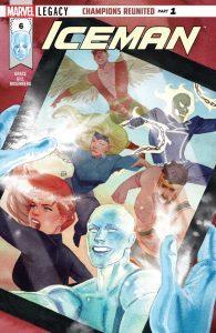 Astonishing X-Men #4, X-Men Blue #13, X-Men Gold #14, Iceman #6
