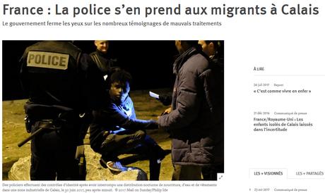 Des #violencespolicieres à #Calais ? « Circulez, ya rien à voir ! » (ben tiens, mon #Collomb…).