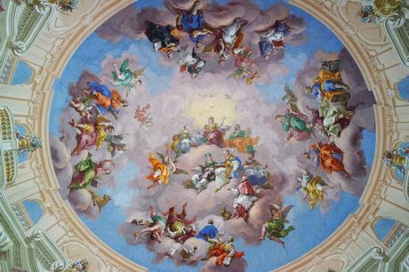 autriche styrie stift monastère admont bibliothèque baroque