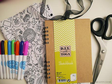 {DIY} Coudre un protège-carnet en tissu à colorier