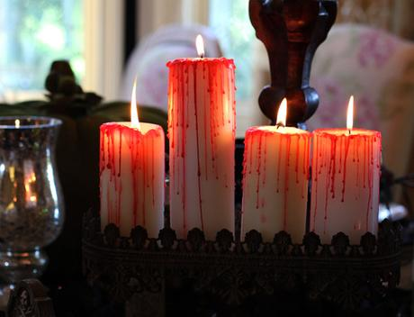 DIY Blood Dripped Candles