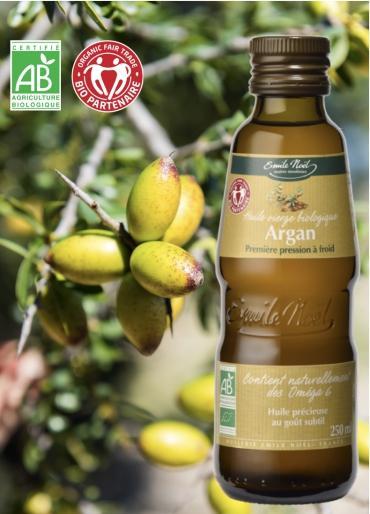 Emile Noël propose une huile vierge d'argan bio...