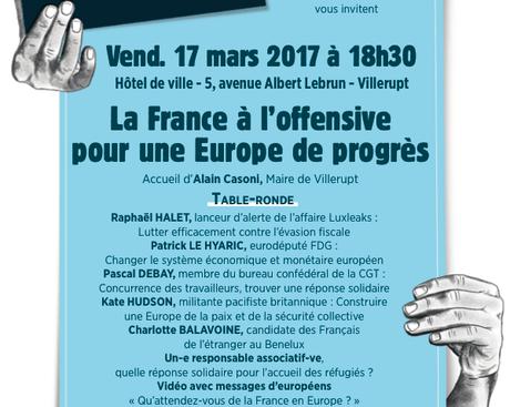 Initiative nationale du PCF sur l'Europe le vendredi 17 mars à Villerupt.