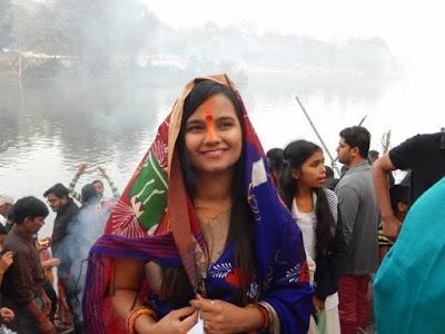 Regards. Fête du Chhath à Hazaribagh