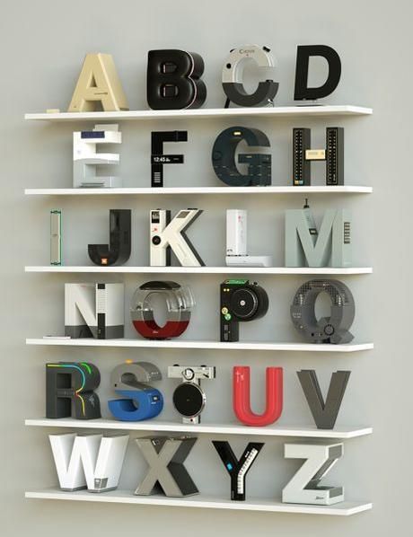 Alphabet et technologie électro de marque