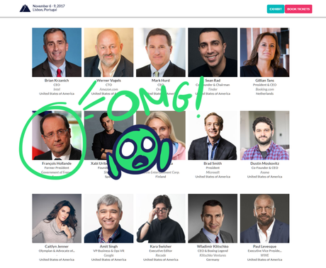 Fly us to the Web Summit and let us play among the stars (with François Hollande)