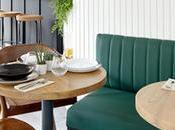café Kinza Sebastian, petit espace aménagé pour paraître plus grand