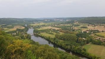 Le Périgord noir : Vue panoramique depuis Domme
