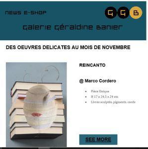 Galerie Géraldine BANIER   » des œuvres délicates au mois de Novembre »