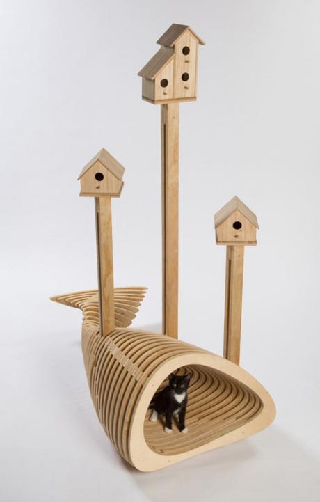 Quand les plus grands architectes dessinent des maisons… Pour chats!