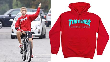 STYLE : Justin Bieber, Selena Gomez and a Trasher Hoodie