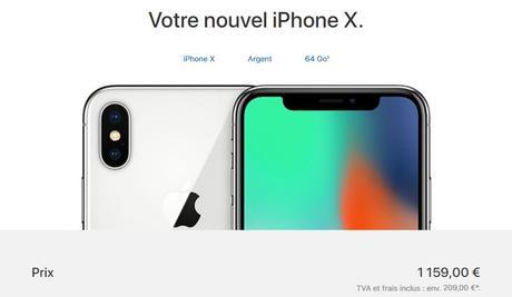 L'iPhone X est disponible à l'achat, à partir de 1159€