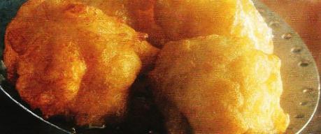 Beignets de pomme de terre au haddock