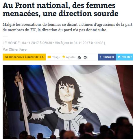 le #féminisme du  #FN, franchement, ça craint ++ #balancetonporc #Lousteau