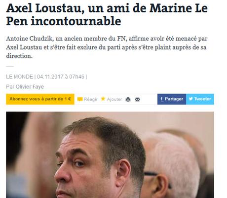 #GUD connexion  : #Lousteau frappe encore… au #FN