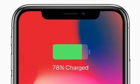 iPhone X : La batterie s'affiche en gros, mais plus en pourcentage ...