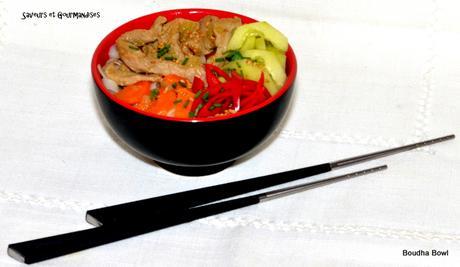 Nouilles sautées au veau et aux légumes (Boudha Bowl)