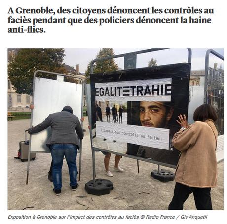 flics de fRance, vous n'aurez pas notre haine #Grenoble #controlesaufaciès