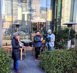 Premier tournage vidéo du MOOC près de la gare de Tokyo