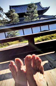 Ce que les yeux voient n'est pas ce que le coeur pense... - Méditation dans le temple bouddhiste Tofukiji dans Kyoto
