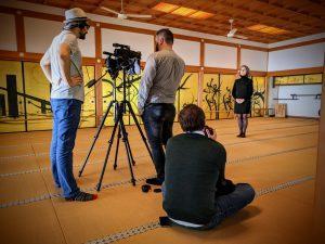 Tournage MOOC dans un temple bouddhiste - ULiège - Pierre Martin - Jeff Van de Poel - Claire Ghyselen - Bjorn Olaf Dozo