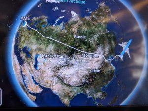 KLM - Amsterdam - Tokyo - Petit détour pour le vol