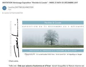 Exposition « Perchée & Corsée »  Caroline Dattner Blankstein-  21 Novembre-3 Décembre 2017 Espace Oppidum