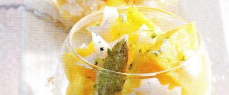Ananas et étoiles au lait d'amande
