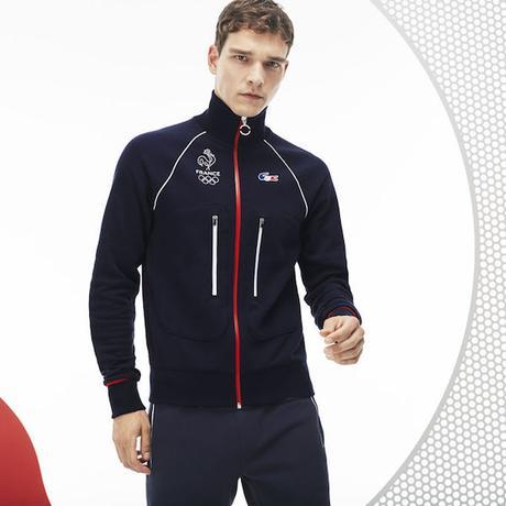 lacoste equipe de france olympique jeux olympique 2018 pyeongchang coree du sud veste survetement