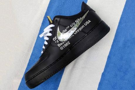 Off White x Nike Air Force 1 Low Black Silver