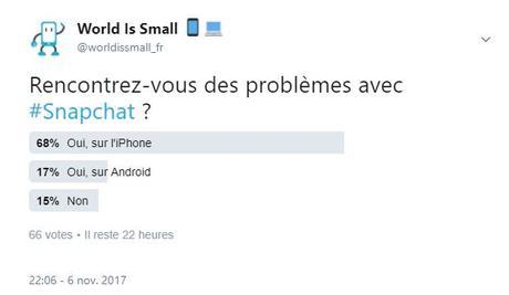 Snapchat : une importante panne mondiale depuis 2 heures