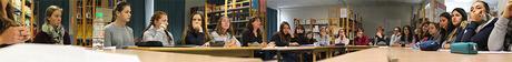 Première analyse de manuscrit avec les lycéens en présence de Yves Bichet